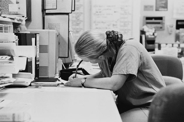 Medical Practitioner Writing ca. 1980s-1990s